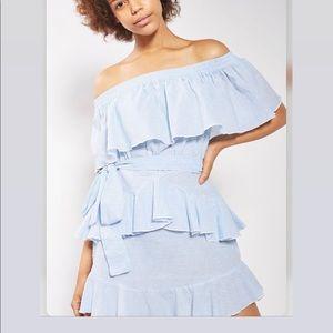 Top shop frill Bardot ruffle dress